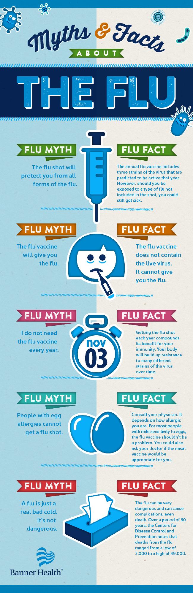 grip - mitovi i istina, infografik